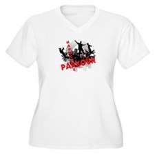 Hardcore Parkour Grunge City T-Shirt