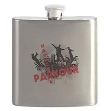 Hardcore Parkour Grunge City Flask