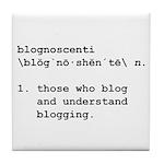 'Blognoscenti' Tile Coaster