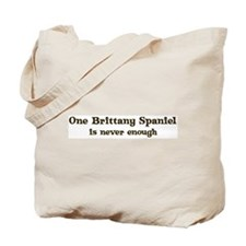 One Brittany Spaniel Tote Bag