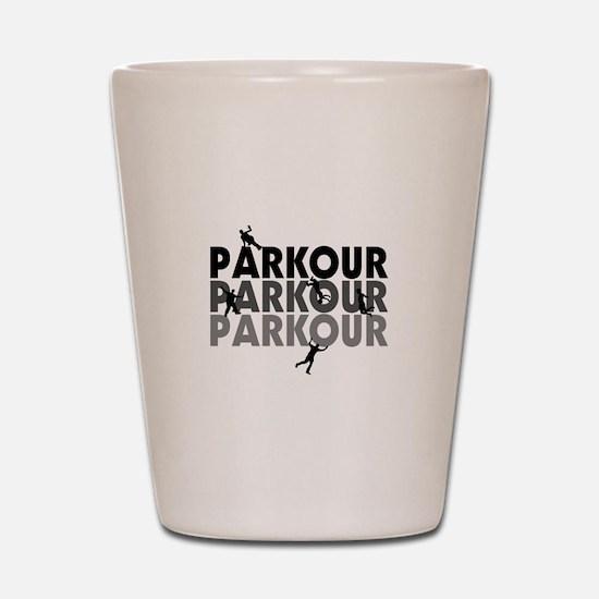 Parkour Free Running Shot Glass