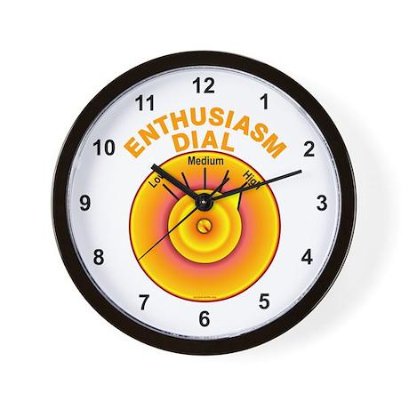 Enthusiasm Dial on High Wall Clock