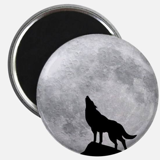 Howling Wolf Full Moon Magnet