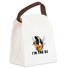 I'm The DJ Rockin The Turntables Canvas Lunch Bag