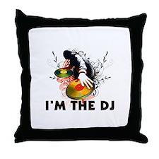 I'm The DJ Rockin The Turntables Throw Pillow