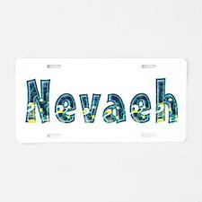 Nevaeh Under Sea Aluminum License Plate
