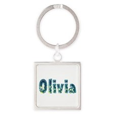 Olivia Under Sea Square Keychain
