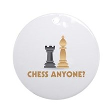 Chess Anyone Chess Pieces Ornament (Round)