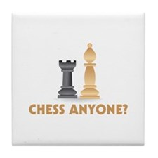Chess Anyone Chess Pieces Tile Coaster