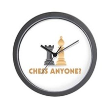 Chess Anyone Chess Pieces Wall Clock