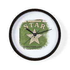 Vintage Star Wall Clock
