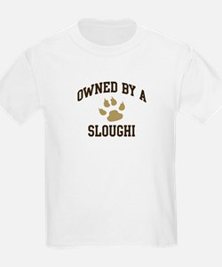 Sloughi: Owned Kids T-Shirt