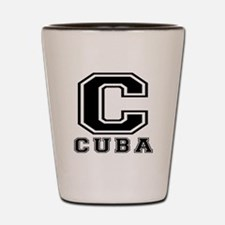 Cuba Designs Shot Glass