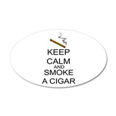 Keep Calm And Smoke A Cigar Wall Decal