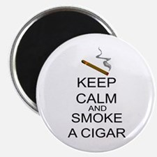 Keep Calm And Smoke A Cigar Magnet