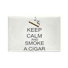 Keep Calm And Smoke A Cigar Rectangle Magnet