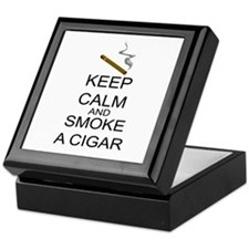 Keep Calm And Smoke A Cigar Keepsake Box