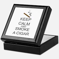 Keep Calm And Smoke A Cigar Keepsake Box
