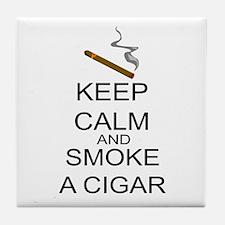 Keep Calm And Smoke A Cigar Tile Coaster