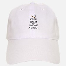 Keep Calm And Smoke A Cigar Baseball Baseball Cap