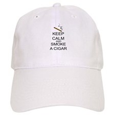 Keep Calm And Smoke A Cigar Baseball Cap