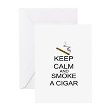 Keep Calm And Smoke A Cigar Greeting Card