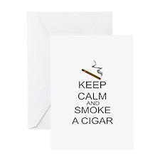 Keep Calm And Smoke A Cigar Greeting Card