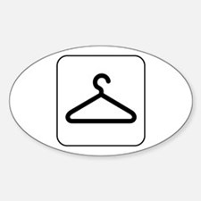 Closet and Coats Oval Decal