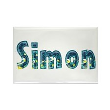Simon Under Sea Rectangle Magnet