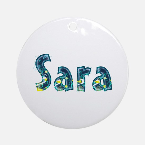 Sara Under Sea Round Ornament