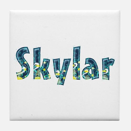Skylar Under Sea Tile Coaster