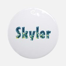 Skyler Under Sea Round Ornament
