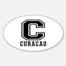 Curacao Designs Sticker (Oval)
