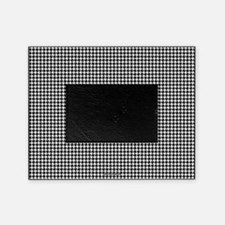 Houndstooth White Picture Frame