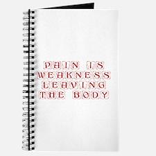 pain-is-weakness-KON-DARK-RED Journal