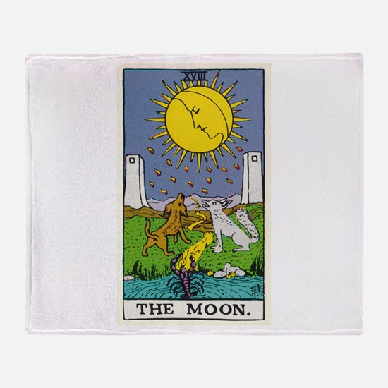 THE MOON TAROT CARD Throw Blanket