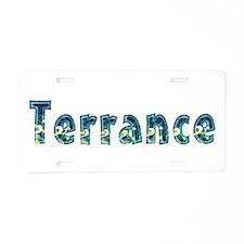 Terrance Under Sea Aluminum License Plate