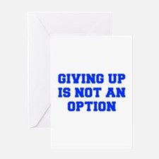 GIVING-UP-FRESH-BLUE Greeting Card