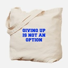 GIVING-UP-FRESH-BLUE Tote Bag