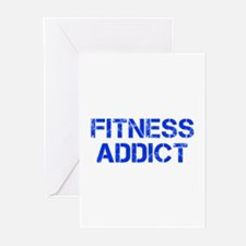 fitness-addict-CAP-BLUE Greeting Cards (Pk of 10)