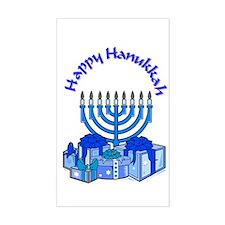 happy hanukkah Rectangle Decal