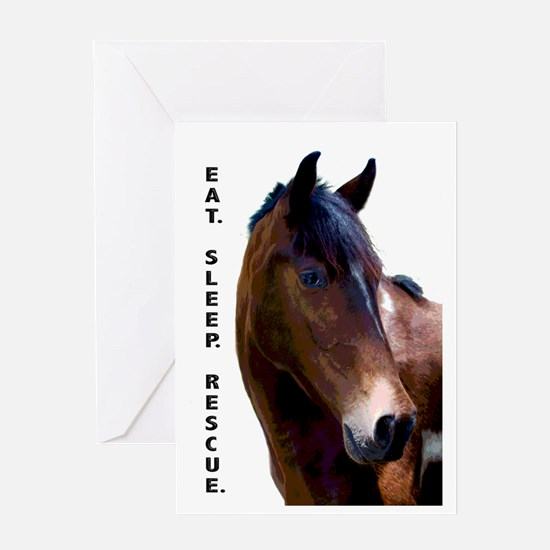 Funny Rescued horse Greeting Card