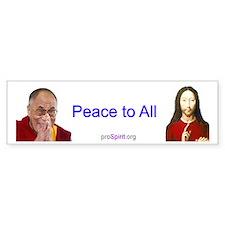 Peace to All - Bumper Bumper Sticker