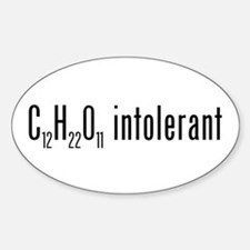 Lactose Intolerant Oval Decal