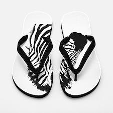 Zebra bust Flip Flops