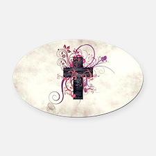 Cross of Grace Oval Car Magnet