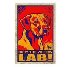 Yellow Lab Vintage Postcards (Pack of 8)