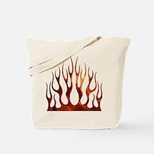 Tribal Flames Fire Tote Bag