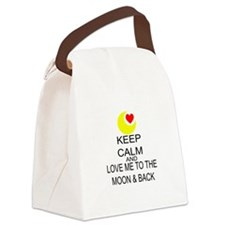 Keep Calm And Love Me To The Moon & Back Canvas Lu