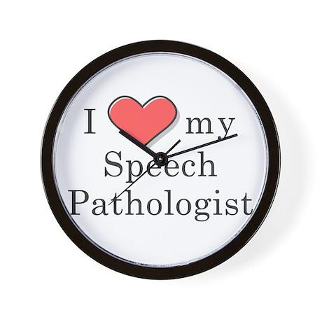I Love my speech pathologist Wall Clock